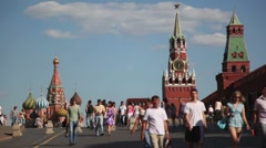 Tourists on Red Square Stock Footage