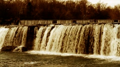 Two Falls Dusk Stock Footage