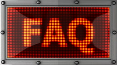 Faq announcement on the LED display Stock Footage