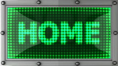 home announcement on the LED display - stock footage