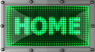 Home announcement on the LED display Stock Footage