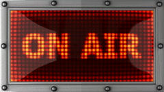 on air announcement on the LED display - stock footage