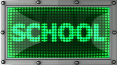 school announcement on the LED display - stock footage