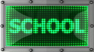 School announcement on the LED display Stock Footage