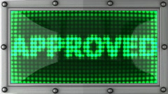 approved announcement on the LED display - stock footage