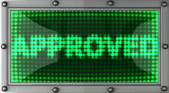 Approved announcement on the LED display Stock Footage