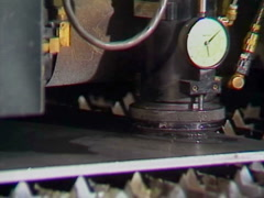 Water cooled laser cutting steel zoom, CNC machine Stock Footage
