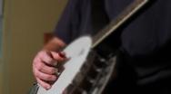 Depth of field banjo Music Two Stock Footage