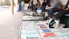 Native American Street Vendors 13 Stock Footage