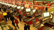Buyers in a supermarket Stock Footage