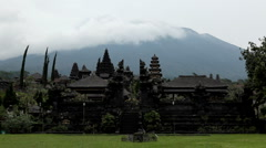 Hindu Mother Temple of Besakih, Pura Besakih, Agung Vulcano, Bali, Indonesia Stock Footage