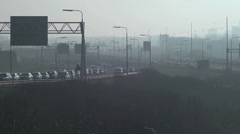 Traffic Pollution - stock footage