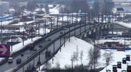 Machine on viaduct Stock Footage