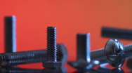 Nuts and bolts. slider shot. 5. Stock Footage