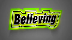 Believing Label for your Muvie - stock footage
