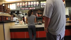Fast food joint Stock Footage