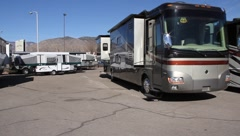Motor Home Dealer Stock Footage