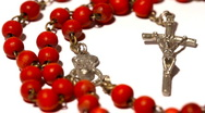 Vatican Rosary Pans Stock Footage