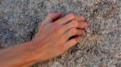 Rock Climbing- Hand Gripping Rock Stock Footage