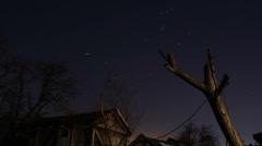 Stars timelapse Stock Footage