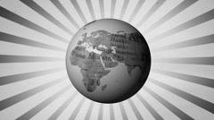 Newspaper globe - stock footage