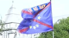 Flag of EU Stock Footage