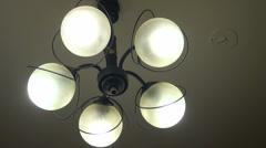 Set of light bulbs  Stock Footage