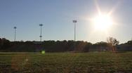 Timelapse High School Stadium 2 Stock Footage