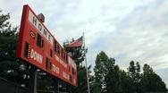 Red scoreboard Stock Footage