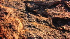 Cowboy Carrying Guitar Climbs Desert Mountain 3 Stock Footage