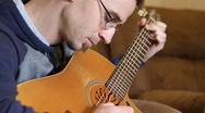 Guitar Picking Stock Footage