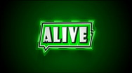 Alive Label Stock Footage