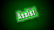 Stock Video Footage of Assist Label