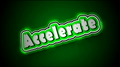 Accelerate Label Stock Footage