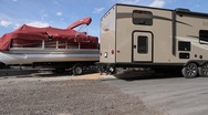Motor Home Lot Stock Footage