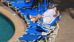 Tourists Relaxing at Resort in Mazatlan, Mexico - stock footage