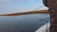 Louisiana Marsh Fishing Stock Footage