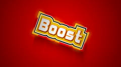 Boost Label - stock footage