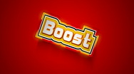 Stock Video Footage of Boost Label