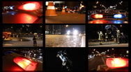 Background of accidents on road Stock Footage