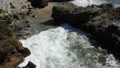 Waves crash on rocks in Mazatlan, Mexico - stock footage