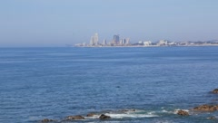 Bay and skyline in Mazatlan, Mexico - stock footage