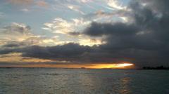 Sunset in Hawaii Stock Footage
