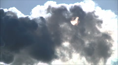 the sun is blocked by smoke - stock footage