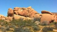 Huge Granite Boulders In Joshua Tree National Park 1 Stock Footage