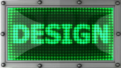 design announcement on the LED display - stock footage