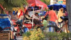 Latin American Street Scene Stock Footage