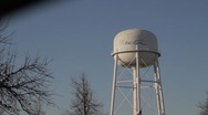 Stock Video Footage of Worn Down Water Tower