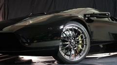 Walk up to Lamborghini Stock Footage