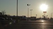 Parking Lot Sun Stock Footage